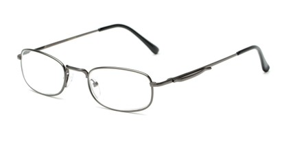 Angle of The Robert in Dark Grey, Women's and Men's Rectangle Reading Glasses