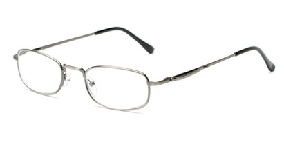 Angle of The Robert in Light Grey, Women's and Men's Rectangle Reading Glasses