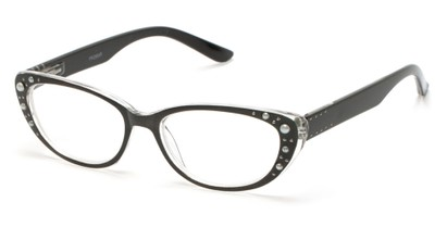 Angle of The Angie in Black, Women's Cat Eye Reading Glasses