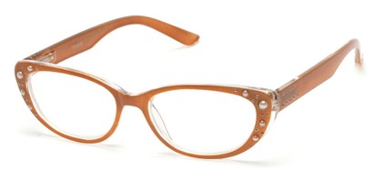 Angle of The Angie in Gold, Women's Cat Eye Reading Glasses