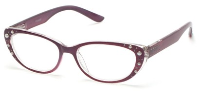 Angle of The Angie in Purple, Women's Cat Eye Reading Glasses