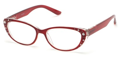 Angle of The Angie in Red, Women's Cat Eye Reading Glasses