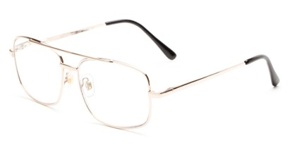 Angle of The Wilcox Multifocal Reader in Gold, Women's and Men's Aviator Reading Glasses