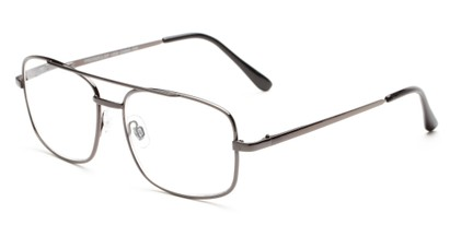 Angle of The Wilcox Multifocal Reader in Gunmetal, Women's and Men's Aviator Reading Glasses