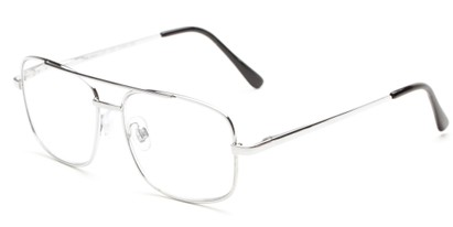 Angle of The Wilcox Multifocal Reader in Silver, Women's and Men's Aviator Reading Glasses