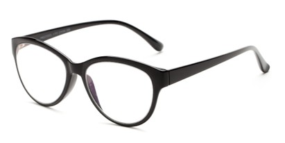 Angle of The Quartz Multifocal Computer Reader in Black, Women's Cat Eye Reading Glasses