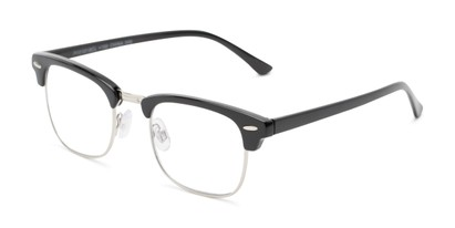 Angle of The Moss Multifocal Reader in Black, Women's and Men's Browline Computer Glasses
