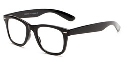 Angle of The Alaska Multifocal Computer Reader in Black, Women's and Men's Retro Square Reading Glasses