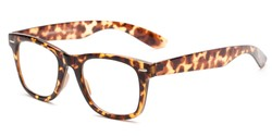 Angle of The Alaska Multifocal Reader in Tortoise, Women's and Men's Retro Square Reading Glasses