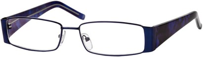 Angle of The Barcelona in Blue, Women's and Men's Rectangle Reading Glasses