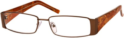Angle of The Barcelona in Bronze/Brown, Women's and Men's Rectangle Reading Glasses