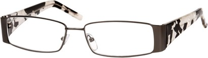 Angle of The Barcelona in Grey/Black/White, Women's and Men's Rectangle Reading Glasses