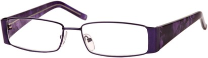 Angle of The Barcelona in Purple, Women's and Men's Rectangle Reading Glasses