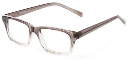 Angle of The Maple Customizable Reader in Grey Fade, Women's and Men's Retro Square Reading Glasses