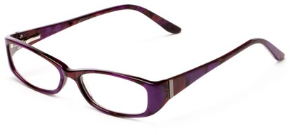 Angle of The Briar Customizable Reader in Purple/Red Marble, Women's and Men's Retro Square Reading Glasses