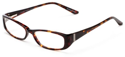 Angle of The Briar Customizable Reader in Tortoise, Women's and Men's Retro Square Reading Glasses