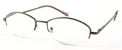 Angle of The Fort Wayne in Bronze, Women's and Men's Oval Reading Glasses