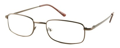 Angle of The Ohio in Bronze, Women's and Men's Rectangle Reading Glasses