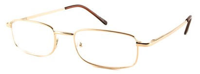 Angle of The Ohio in Gold, Women's and Men's Rectangle Reading Glasses