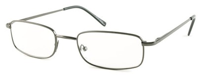 Angle of The Ohio in Grey, Women's and Men's Rectangle Reading Glasses