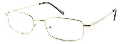 Angle of The Ohio in Silver, Women's and Men's Rectangle Reading Glasses