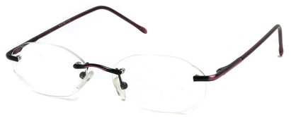 Angle of The Clinton Hill in Red, Women's and Men's Oval Reading Glasses