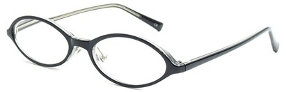 Angle of The Walker in Black, Women's and Men's Oval Reading Glasses
