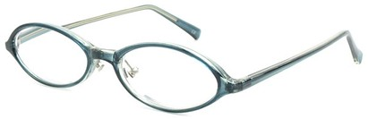 Angle of The Walker in Blue, Women's and Men's Oval Reading Glasses