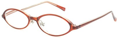 Angle of The Walker in Brown, Women's and Men's Oval Reading Glasses