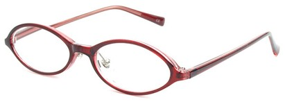 Angle of The Walker in Red, Women's and Men's Oval Reading Glasses