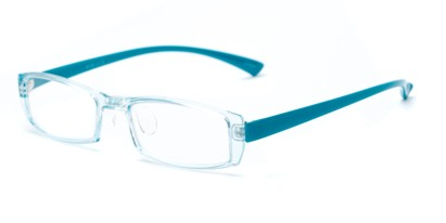 Angle of The Elspeth in Blue, Women's and Men's Rectangle Reading Glasses