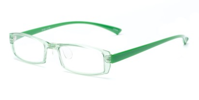 Angle of The Elspeth in Green, Women's and Men's Rectangle Reading Glasses