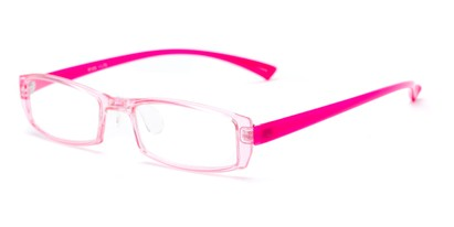Angle of The Elspeth in Pink, Women's and Men's Rectangle Reading Glasses