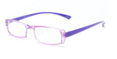 Angle of The Elspeth in Purple, Women's and Men's Rectangle Reading Glasses