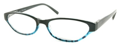 Angle of The Matilda in Black and Blue Tortoise, Women's and Men's