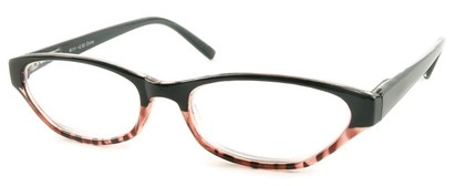 Angle of The Matilda in Black and Pink Tortoise, Women's and Men's