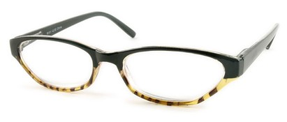 Angle of The Matilda in Black and Tan Tortoise, Women's and Men's