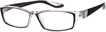 Angle of The Cheryl in Black/Clear, Women's and Men's