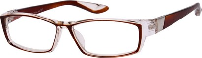 Angle of The Cheryl in Brown/Clear, Women's and Men's