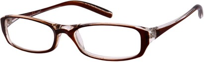 Angle of The Skylar in Brown/Clear, Women's and Men's
