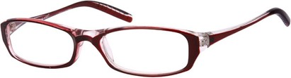 Angle of The Skylar in Red/Clear, Women's and Men's