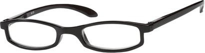 Angle of The Devonshire in Solid Black, Women's Rectangle Reading Glasses