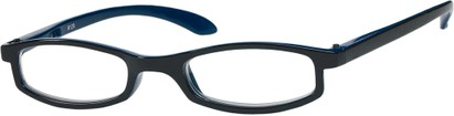 Angle of The Devonshire in Black/Navy Blue, Women's Rectangle Reading Glasses