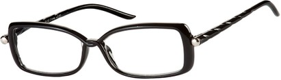 Angle of The Anita in Black, Women's Square Reading Glasses