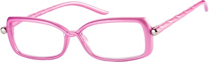 Angle of The Anita in Pink, Women's Square Reading Glasses