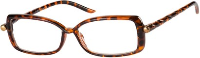 Angle of The Anita in Tortoise, Women's Square Reading Glasses