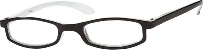 Angle of The Devonshire in Black/White, Women's Rectangle Reading Glasses