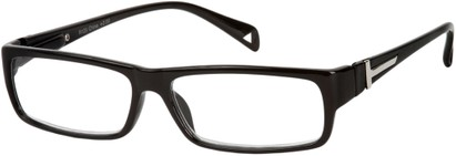 Angle of The Chase in Black, Women's and Men's Rectangle Reading Glasses