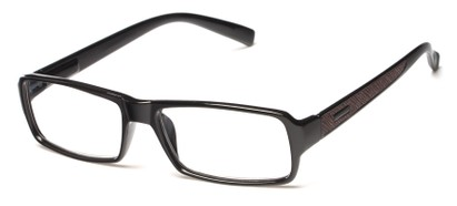 Angle of The Executive in Black/Brown, Men's Rectangle Reading Glasses