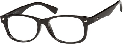 Angle of The Orson in Black, Women's and Men's Retro Square Reading Glasses